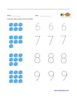 Counting Kindergarten Math Worksheets