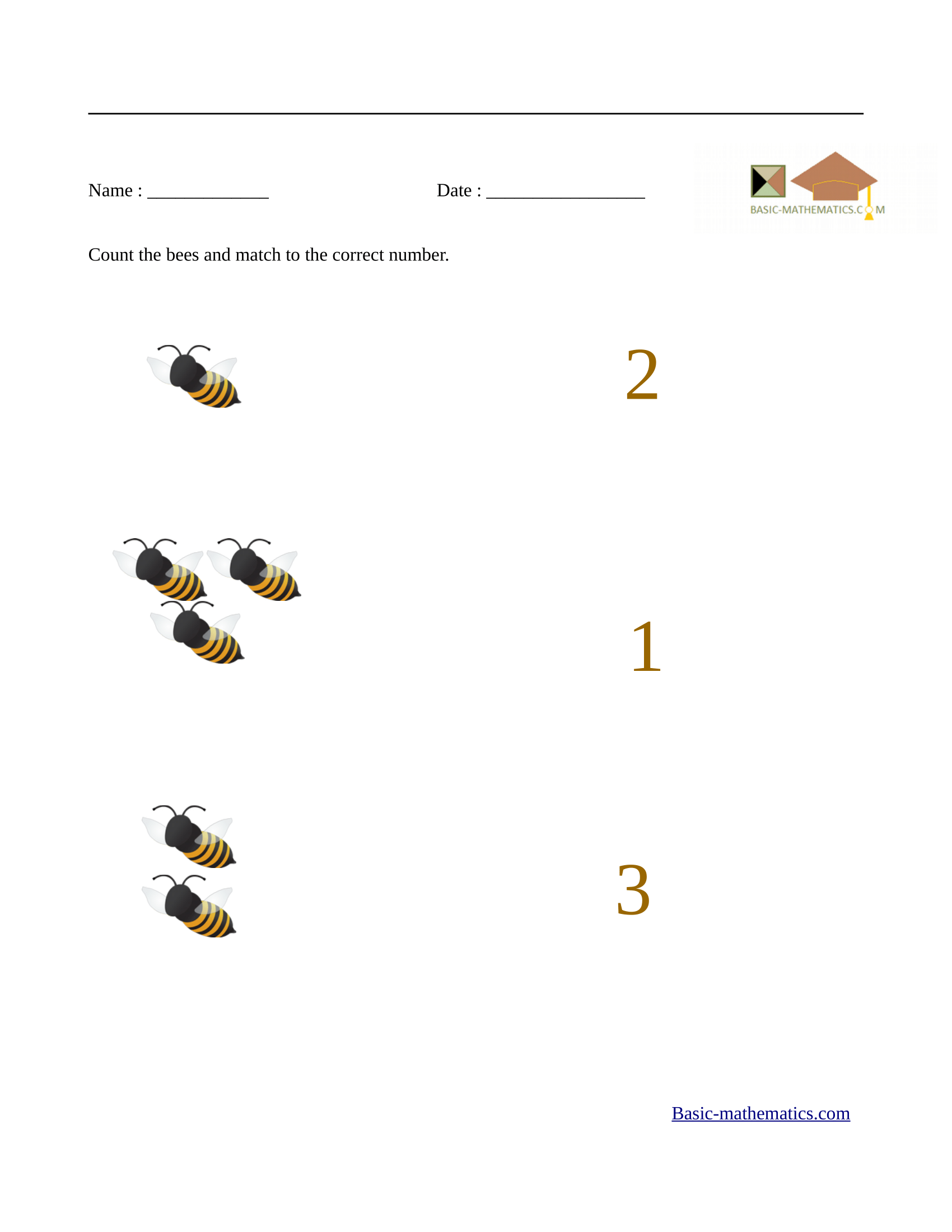 Education com preschool math worksheets