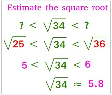 Estimate the square root