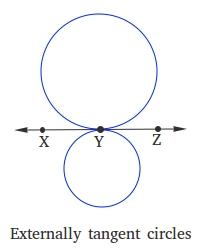 Externally tangent circles