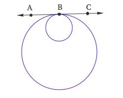 Internally tangent circles