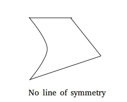 No line of symmetry