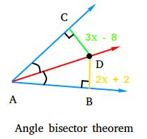 Angle bisector theorem example