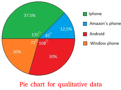 Qualitative data pie chart