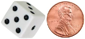 Die and coin