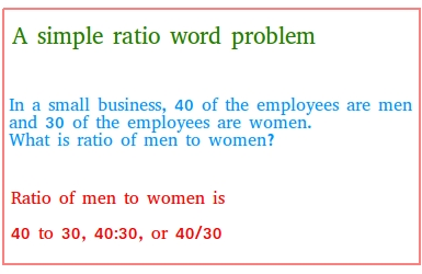 A simple ratio word problem