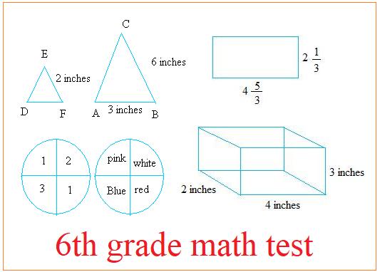 6th grade math test