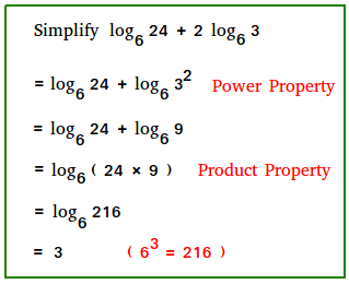 How to simplify logarithms