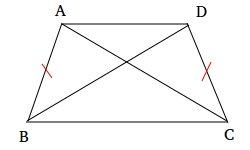 The diagonals of an isosceles trapezoid are congruent
