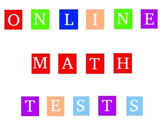 Online math tests