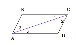 Opposite sides of a parallelogram are congruent